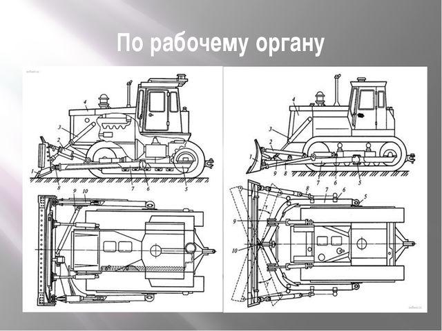 По рабочему органу Схемы бульдозеров:а - с поворотным отвалом; б - с неповор...