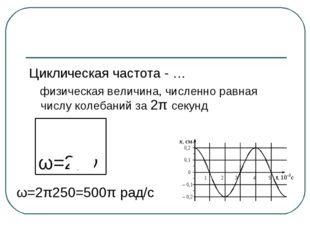 Циклическая частота - … физическая величина, численно равная числу колебаний