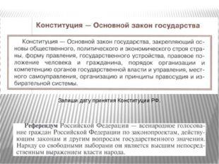 Запиши дату принятия Конституции РФ.
