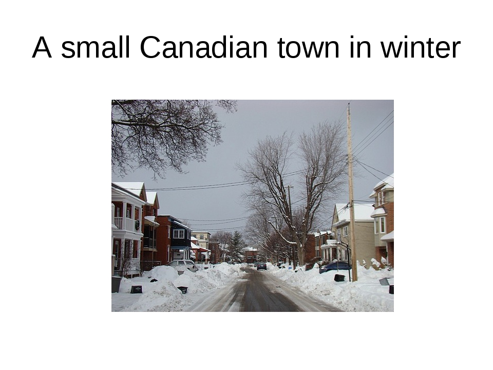 A small Canadian town in winter