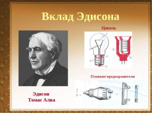Вклад Эдисона Эдисон Томас Алва Плавкие предохранители Цоколь