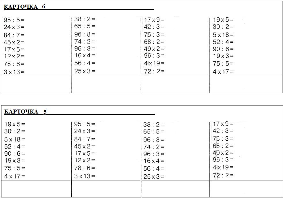 Конспект урока деление двузначного числа на однозначное 3 класс