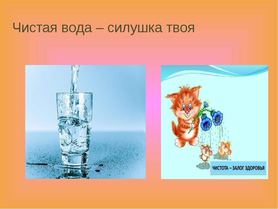 Чистая вода – силушка твоя