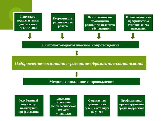 Психолого-педагогическое сопровождение Оздоровление-воспитание- развитие-обра...