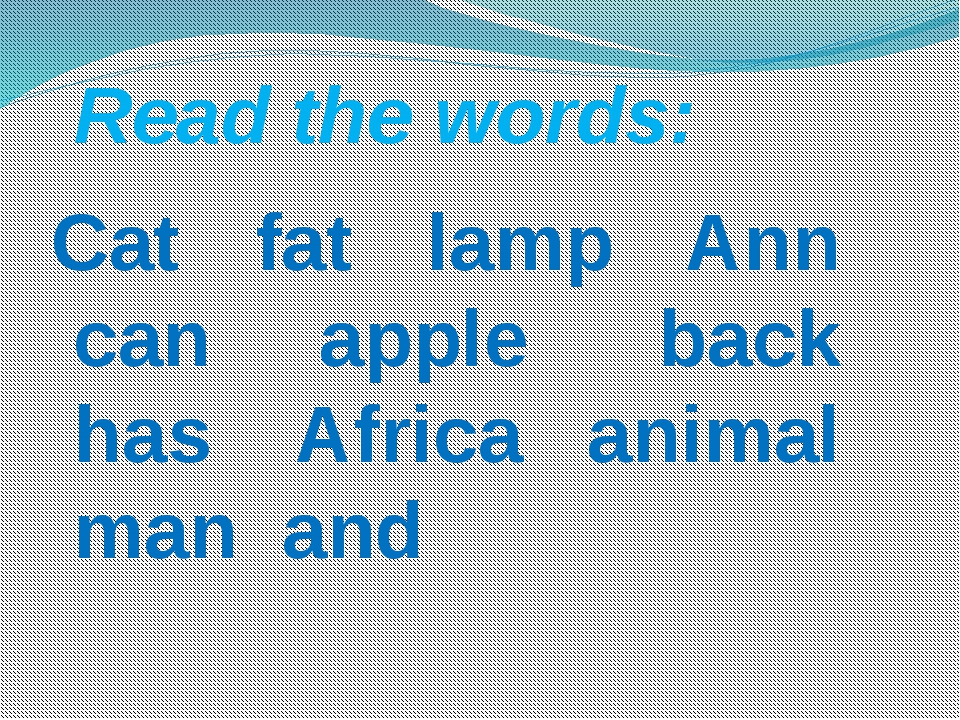 Cat fat lamp Ann can apple back has Africa animal man and   Read t...