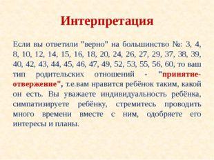 """Интерпретация Если вы ответили """"верно"""" на большинство №: 3, 4, 8, 10, 12, 14,"""