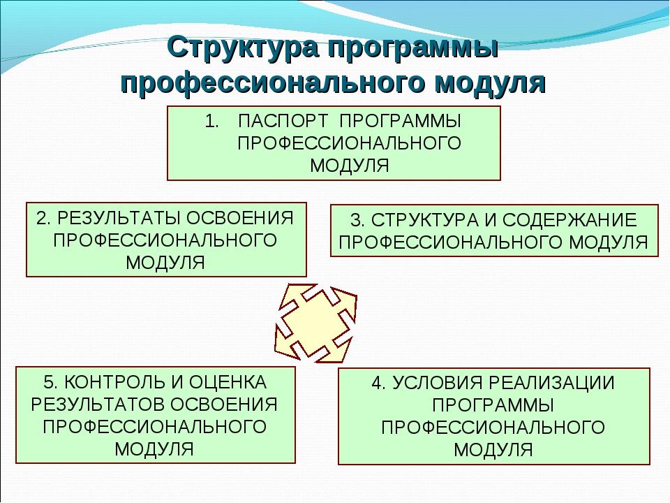 Структура программы профессионального модуля ПАСПОРТ ПРОГРАММЫ ПРОФЕССИОНАЛЬН...