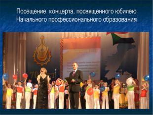Посещение концерта, посвященного юбилею Начального профессионального образова