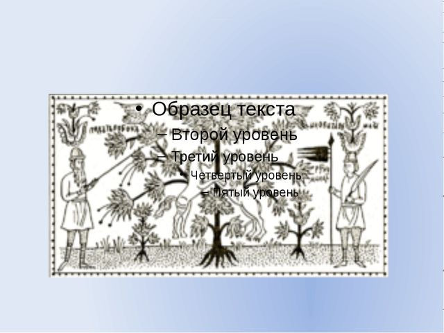Мировое древо. Роспись крышки сундука. XVIIв.