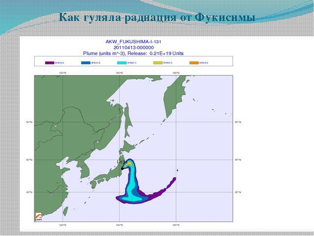 Как гуляла радиация от Фукисимы