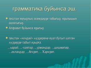 грамматика буйынса эш. текстан яңғыҙлыҡ исемдәрҙе табығыҙ, яҙылышын аңлатығы
