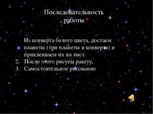 Астероиды Кометы Из конверта белого цвета, достаем планеты (три планеты в ко