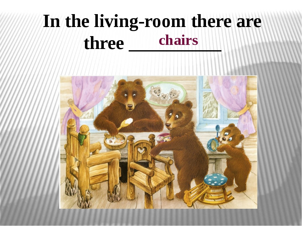 In the living-room there are three __________ chairs