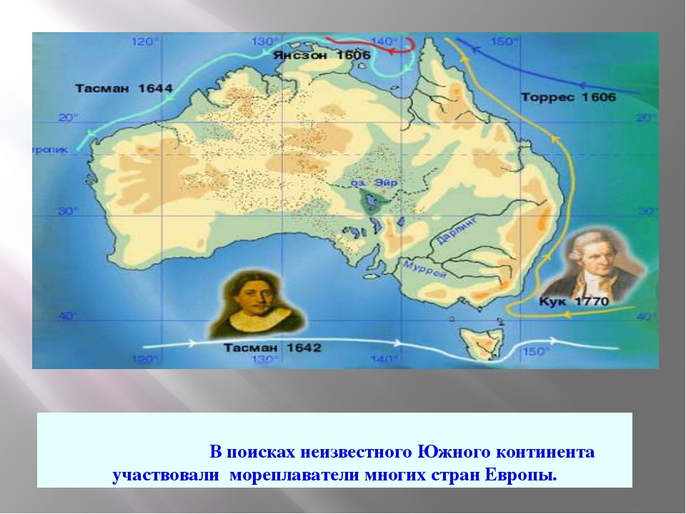 В поисках неизвестного Южного континента участвовали мореплаватели многих ст...
