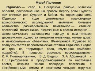 Музей Палеолит Юдиново— село в Погарском районе Брянской области, расположен