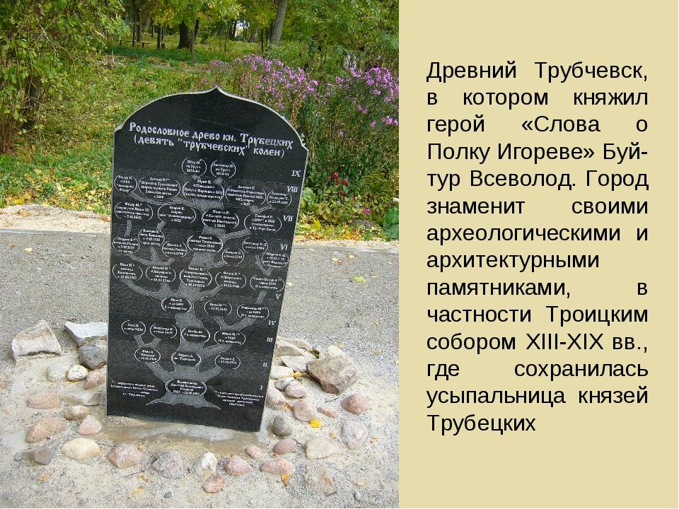 Древний Трубчевск, в котором княжил герой «Слова о Полку Игореве» Буй-тур Все...