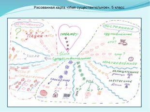 Рисованная карта «Имя существительное», 5 класс