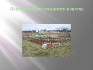 Планирование садового участка