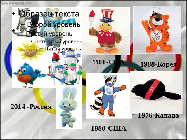 2014 -Россия 1976-Канада 1980-США 1984 -США 1988-Корея