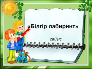 «Білгір лабиринт» сайыс