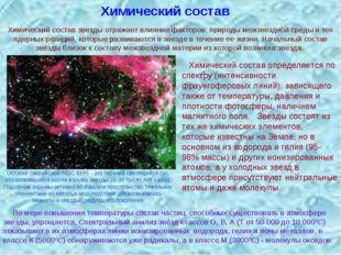 Химический состав Химический состав определяется по спектру (интенсивности фр