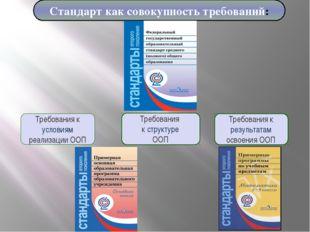 Требования к результатам освоения ООП Требования к структуре ООП Требования