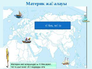 Материк жағалауы теңіз, түбек аралдар теңіз, түбек аралдар теңіз, түбек арал