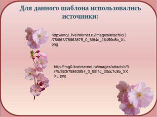 Для данного шаблона использовались источники: http://img1.liveinternet.ru/ima