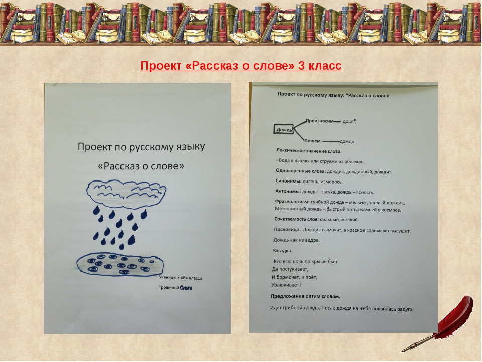 Как сделать проект по русскому 348
