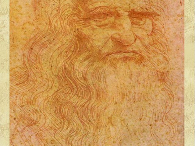 """Leonardo da Vinci's portrait of himself in his old age"", 1514"