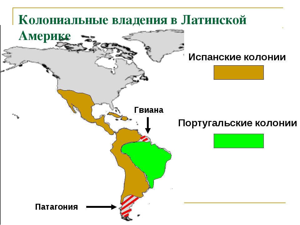 Колониальные владения в Латинской Америке Испанские колонии Португальские кол...