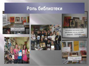 Роль библиотеки