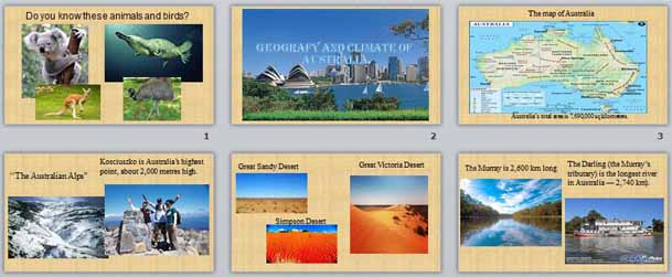 Презентация Geography and climate of Australia