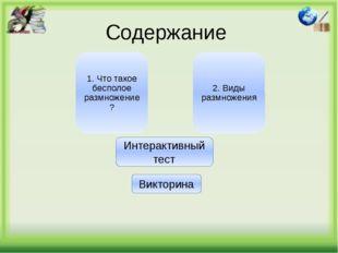 Виды размножения: Характерно для одноклеточных организмов: например, амебы, э