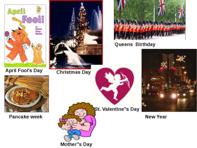 """Christmas Day April Fool's Day Queens Birthday Pancake week Mother""""s Day St...."""