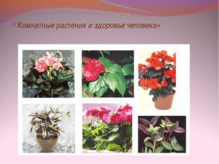 «Комнатные растения и здоровье человека»
