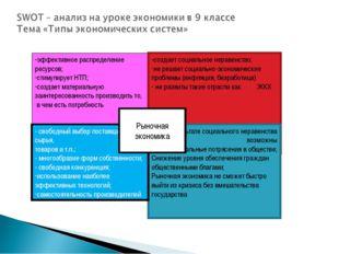 эффективное распределение ресурсов; стимулирует НТП; создает материальную заи