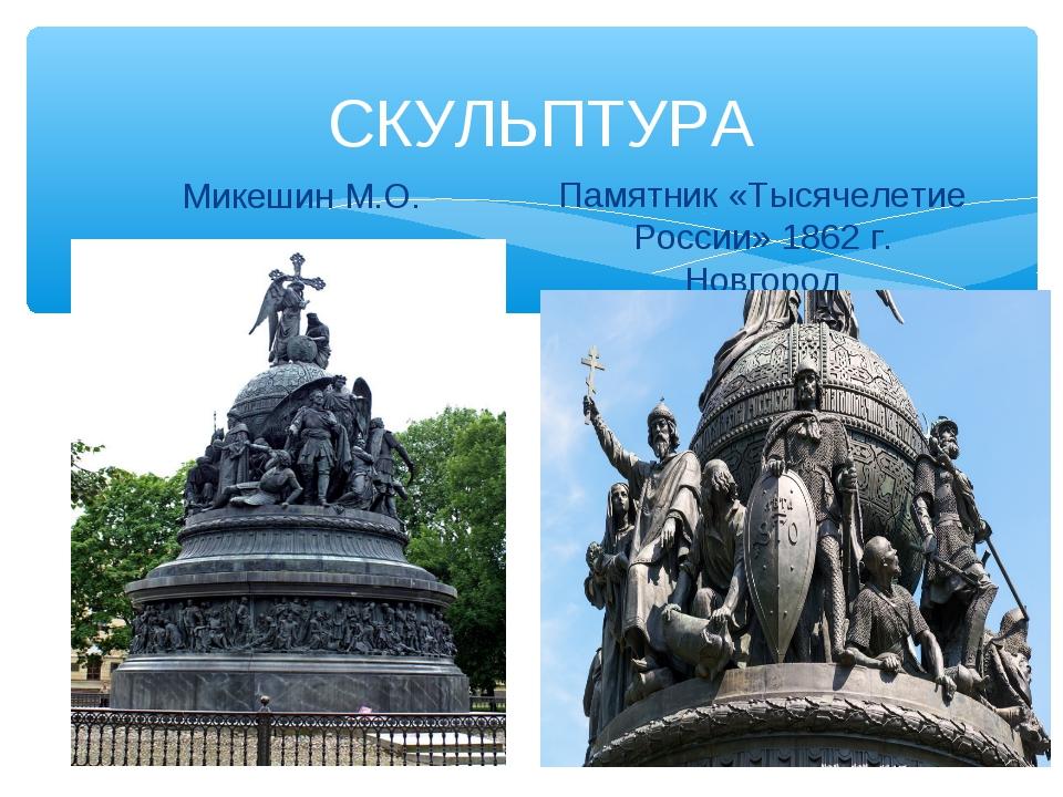 СКУЛЬПТУРА Микешин М.О. Памятник «Тысячелетие России» 1862 г. Новгород