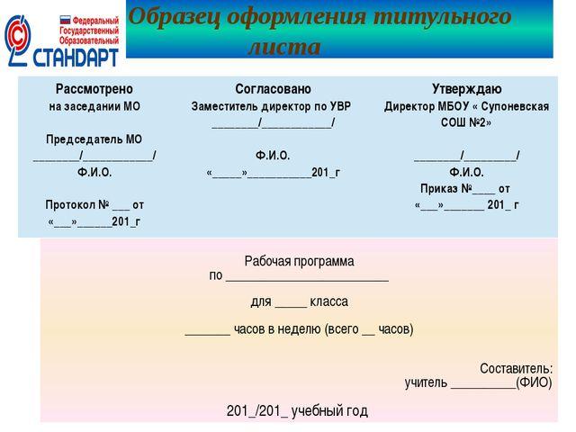 Лист Коррекции Рабочей Программы Образец - фото 6