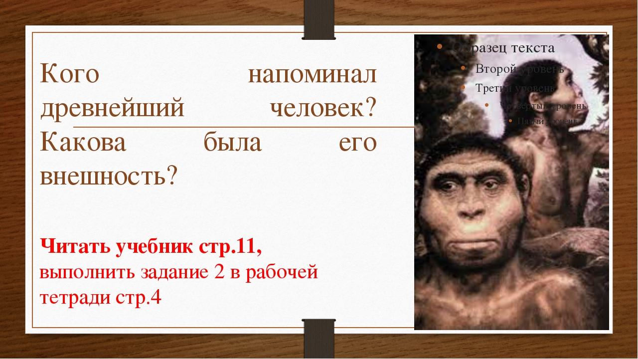 Кого напоминал древнейший человек? Какова была его внешность? Читать учебник...