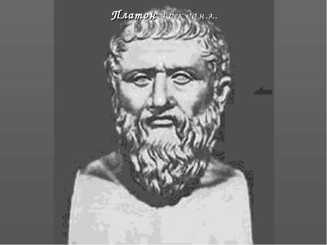 Платон 4 век до н.э..