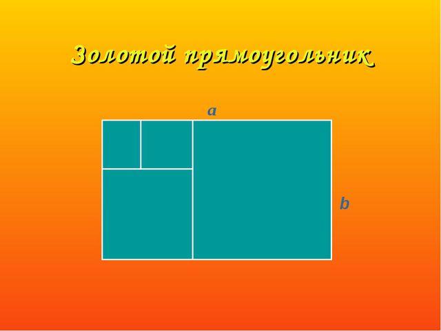 Золотой прямоугольник a b