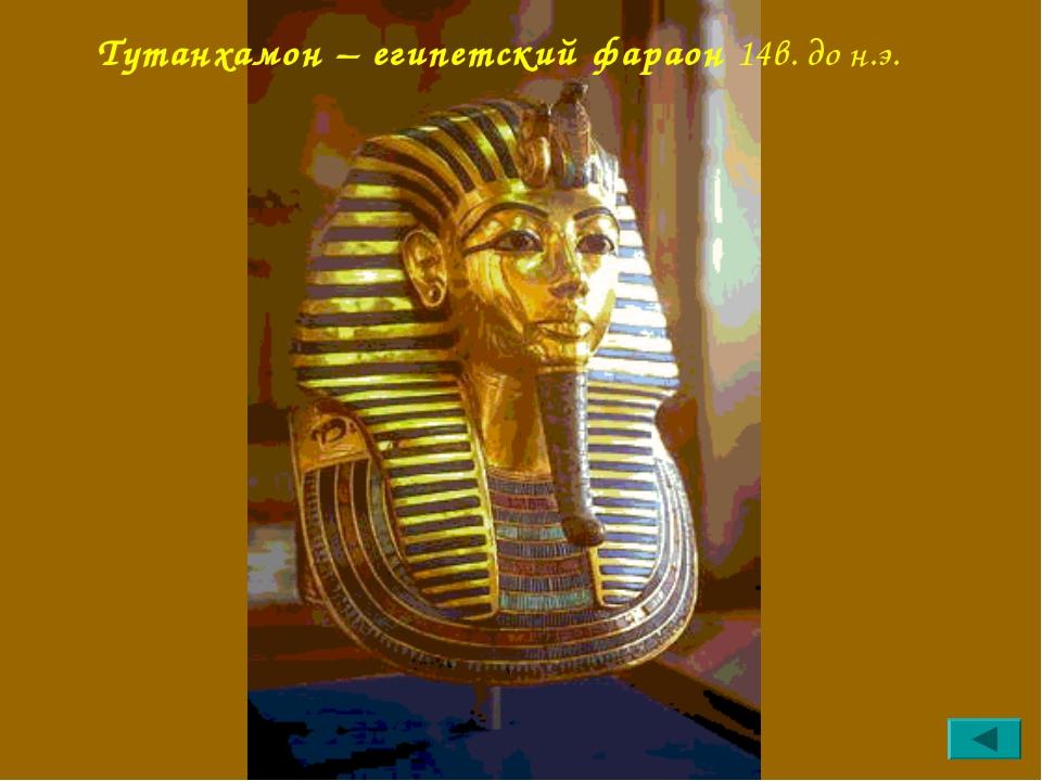 Тутанхамон – египетский фараон 14в. до н.э.