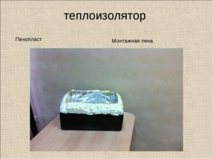 теплоизолятор Пенопласт Монтажная пена