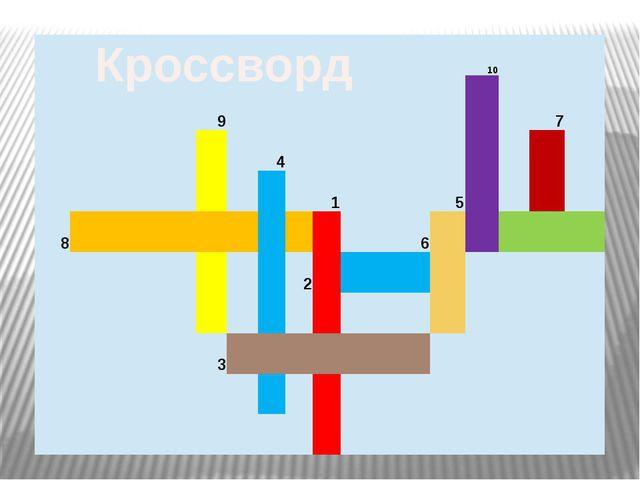 Кроссворд 10 9 7 4 1 5 8 6 2 3