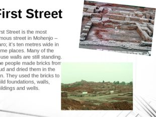 First Street First Street is the most famous street in Mohenjo – Daro; it's t