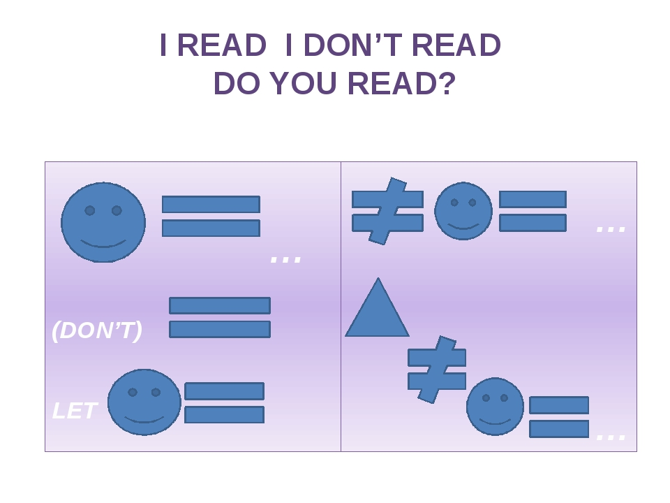 I READ I DON'T READ DO YOU READ? +++ … (DON'T) … LET … ??? … …