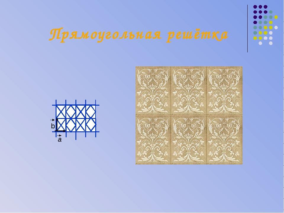Прямоугольная решётка a b