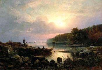 Финляндский пейзаж :: Гине Александр Васильевич, 1861 г.