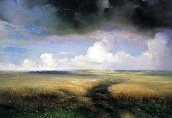 Рожь :: Саврасов Алексей Кондратьевич, 1881 г.